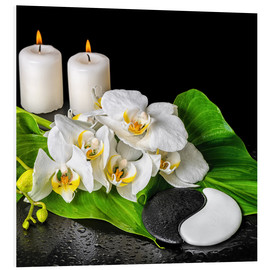 Forex  Spa concept with candles and orchids
