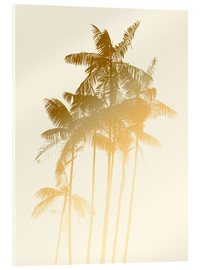 Metacrilato  Palm trees design poster - tobacco - Alex Saberi