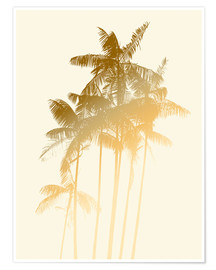 Póster  Palm trees design poster - tobacco - Alex Saberi