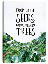 Lienzo  From little seeds grow mighty trees - RNDMS