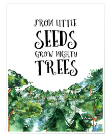 Póster From little seeds grow mighty trees
