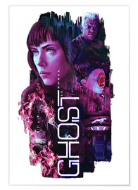 Póster  Ghost in the Shell - Barrett Biggers