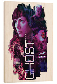 Cuadro de madera  Ghost in the Shell - Barrett Biggers