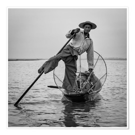 Póster Fisherman in Myanmar