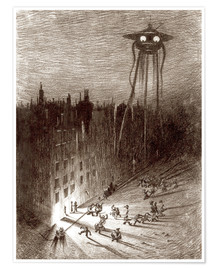 Póster  Martian Viewing Drunken Crowd - Henrique Alvim Correa
