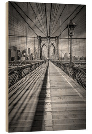 Madera  NEW YORK CITY Brooklyn Bridge - Melanie Viola