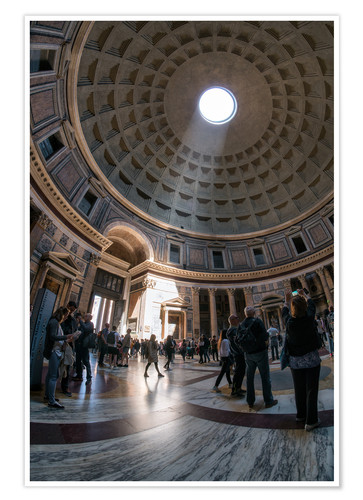 Póster The Pantheon in Rome, Italy