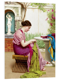 Cuadro de PVC  A stitch in time - John William Godward