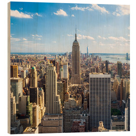 Cuadro de madera  Manhattan skyline with views of the Empire State Building - Jan Christopher Becke