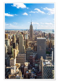 Póster  Vista de Manhattan, Nueva York - Jan Christopher Becke