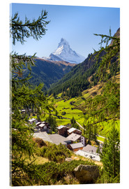 Cuadro de metacrilato  View of Zermatt and the Matterhorn, Swiss Alps, Switzerland - Jan Christopher Becke