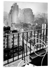 Cuadro de metacrilato  New York: View from penthouse, 56 Seventh Avenue, Manhattan - Christian Müringer