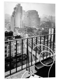 Cuadro de PVC  New York: View from penthouse, 56 Seventh Avenue, Manhattan - Christian Müringer