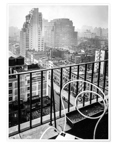 Póster New York: View from penthouse, 56 Seventh Avenue, Manhattan