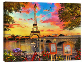Lienzo  30295 Paris Sunset - Dominic Davison