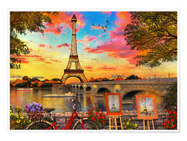 Póster  30295 Paris Sunset - Dominic Davison
