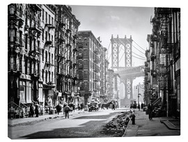 Lienzo  Historic New York: Pike and Henry Streets, Manhattan - Christian Müringer