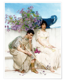 Póster  An Eloquent Silence - Lawrence Alma-Tadema