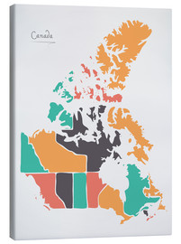 Lienzo  Canada map modern abstract with round shapes - Ingo Menhard