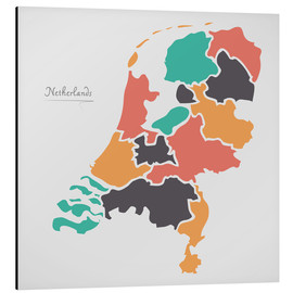 Cuadro de aluminio  Netherlands map modern abstract with round shapes - Ingo Menhard