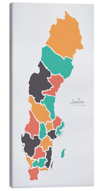 Lienzo  Sweden map modern abstract with round shapes - Ingo Menhard