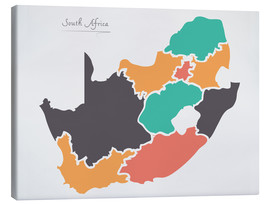 Lienzo  South Africa map modern abstract with round shapes - Ingo Menhard