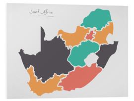 Cuadro de PVC  South Africa map modern abstract with round shapes - Ingo Menhard