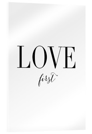 Cuadro de metacrilato  Love first (inglés) - Amy and Kurt
