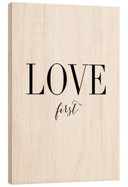 Cuadro de madera  Love first (inglés) - Amy and Kurt