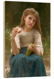 Cuadro de madera  Le Gouter - William Adolphe Bouguereau