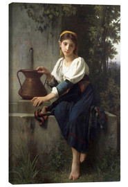 Lienzo  Young Girl at the Well - Elizabeth Jane Gardner Bouguereau