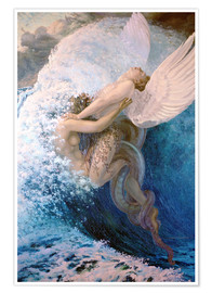 Póster  Spleen and Ideal - Carlos Schwabe