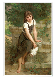 Póster  At the fountain - Emile Munier