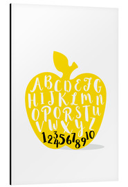 Cuadro de aluminio  ABC apple yellow - Ohkimiko