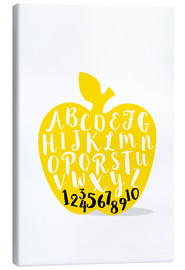 Lienzo  ABC apple yellow - Ohkimiko