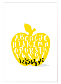 Póster ABC apple yellow