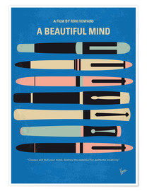 Póster No809 My A Beautiful Mind minimal movie poster