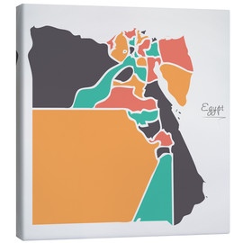 Lienzo  Egypt map modern abstract with round shapes - Ingo Menhard