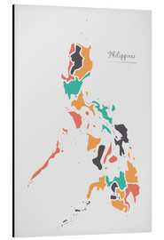 Cuadro de aluminio  Philippines map modern abstract with round shapes - Ingo Menhard