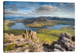 Lienzo  View from Stac Pollaidh in Scotland - Michael Valjak