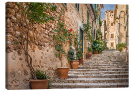 Lienzo  Fornalutx - Most beautiful village in Majorca - Christian Müringer