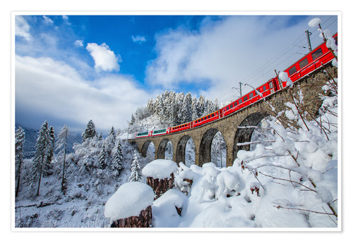 Póster Bernina Express Train, Switzerland