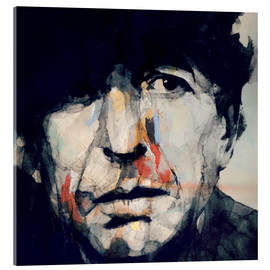 Cuadro de metacrilato  Leonard Cohen - Paul Lovering Arts