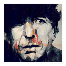 Póster  Leonard Cohen - Paul Lovering Arts