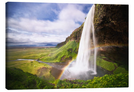 Lienzo  Waterfall with rainbow - Dennis Fischer