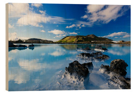 Cuadro de madera  Blue Lagoon in Iceland - Dieter Meyrl