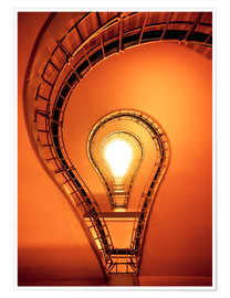 Póster Light bulb in staircase