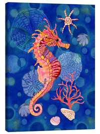 Lienzo  Seahorse in the blue - Janet Broxon