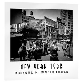 Cuadro de metacrilato  Historic New York: Union Square, 14th Street and Broadway - Christian Müringer
