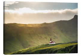 Lienzo  Church in the light, Iceland - Dennis Fischer